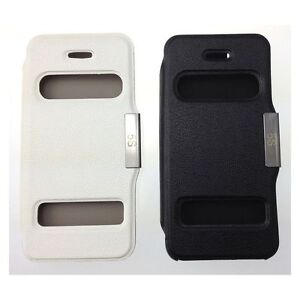 Double Window Smart View Flip Cover Case for iPhone 5 / 5s UK FAST FREE POST