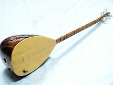 GANOXX: TURKISH MAHOGANY LONG NECK SAZ With ADJUSTABLE PICKUP W/ FREE CASE