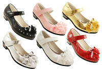 Girls Toddlers Black Patent Wedding Christmas Party Fancy Shoes Size 7 - 3 SALE