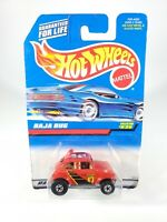 1998 Hot Wheels BAJA BUG #835 Red NEW NOC 1/64 Diecast with Protector Pak