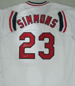 """Cardinals TED SIMMONS #23 Signed Custom White Jersey AUTO w/ """"Simba"""" - HOF 2020"""