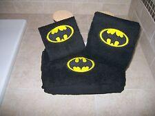 Batman Personalized 3 Piece Bath Towel Set Super Hero Batman Logo