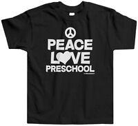 Threadrock Kids Peace Love Preschool Toddler T-shirt Funny Cute School