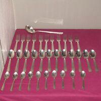 Partie de ménagère 34 pièces art deco orfèvrerie LE MONDIALE métal argenté