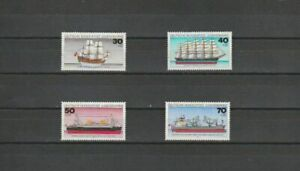 Germany (W) 1977 SG1819-22 4v NHM Shipping-Wappen von Hamburg (warship)/Bremen (