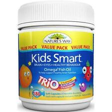 Nature's Way Kids Smart Omega 3 Fish Oil Trio 180 Chewable Burstlets - DHA