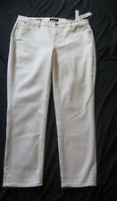 NWT $99 TALBOT'S NATURAL TAN SLIMMING FLAWLESS 5 POCKET SLIM ANKLE JEANS 16WP