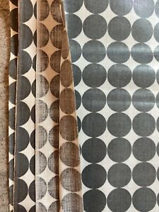 """vintage polished cotton fabric 3.3 Yds X 36"""" W 1950's"""