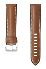 Novonappa Hybrid Band 20mm Brown Leather Strap for Samsung Galaxy Watch 3
