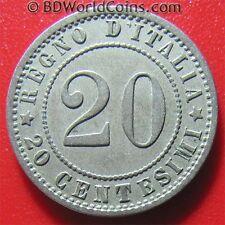 ITALY 1895-R 20 CENTESIMI ROME MINT NICE DETAILS! COLLECTABLE ITALIAN COIN 21mm