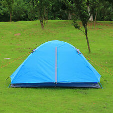 Gazelle Waterproof Camping Hiking Double Layer Rain FlyTent 2 Person Blue
