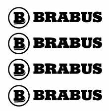 4 STICKERS BRABUS MERCEDES   autocollant LOGO vinyl tuning 22x95mm