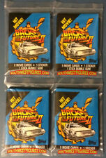 4x Back To The Future II Sealed Wax Packs (Topps 1989)