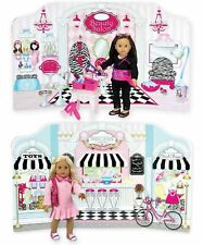 18 Inch Doll Play Scene Backdrop by Sophia's, serves as a Doll House for Doll 18