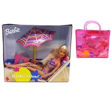 2001 Sunsation Barbie Doll with Beach Bag Worn Box