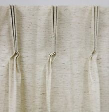 """Rio Pinch Pleated Insulated Single Drape, Ivory, 110"""" wide by 84"""" long"""