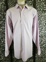 BROOKS BROTHERS 346 MENS LONG SLEEVE BUTTON SHIRT SIZE 16.5 6-7 LIGHT LAVENDER