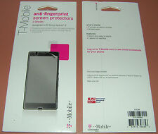 T-Mobile Brand PET Screen Protector film Sony Xperia Z, anti-fingerprint, X 2