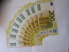 10 x 200€ euro Scheine Filmgeld Spielgeld Banknoten Scherzartikel
