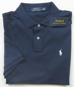 NWT Men's Polo Ralph Lauren Navy S/S Classic Fit Interlock Polo Shirt Size M