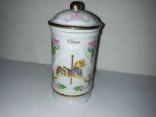 Vintage 1993 The Spice Carousel Lenox Fine Porcelain Jars - Clove Unicorn