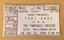 1994 TORI AMOS HOLLYWOOD CONCERT TICKET STUB UNDER THE PINK TOUR CORNFLAKE GIRL
