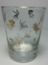 Warner Brothers Looney Toons Glass Gold Cartoon Faces 1994 bugs bunny Daffy duck