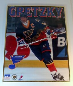 Wayne Gretzky 1996 St Louis Blues Framed Starline Poster 20 x 16