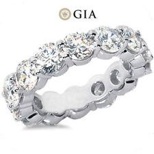 9.00 ct Round Diamond 14k White Gold Band Eternity Ring 12 x 0.76 ct GIA G SI1