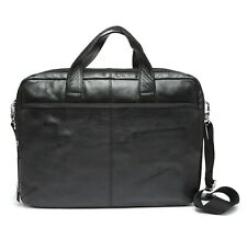 3f3c4041c04 Ecco Mens Black Leather Messenger Crossbody Bag 2206