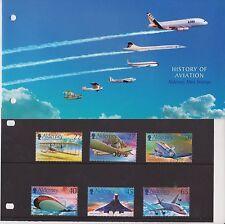 ALDERNEY 2003 PRESENTATION PACK HISTORY OF AVIATION STAMP SET MNH SG A204-A209