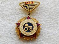 Vintage pinback pin badge Honorary Veteran of Labor,Minsk Tractor Plant,MTZ,USSR