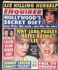 National Enquirer Aug. 27, 1996. Kathy Lee  Jane Pauly Calvin Klein  Liz Taylor