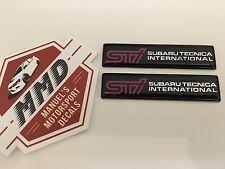 2 X Subaru STI Badge Decal WRX STI BRZ STI Liberty STI Forester STI B4 STI RS