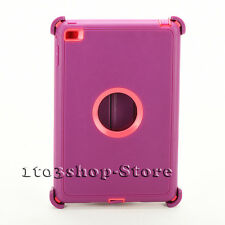 Defender Rugged Hard Shell Case for iPad Mini 4 w/Otterbox Stand Cover Plum/Pink