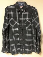 Wrangler Authentics Green Plaid Flannel Long Sleeve Shirt Mens Medium