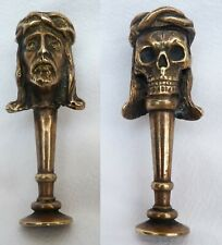PIPE  TAMPER STOPPER BRASS  Jezus JANUS HEAD CHRIST DEATH SKULLSeals