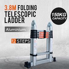 3.8M Multi-Purpose Aluminium Telescopic Extension Ladder