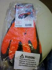 Heavy Latex Coated Cold Weather Gloves Sandy Finish--Size L
