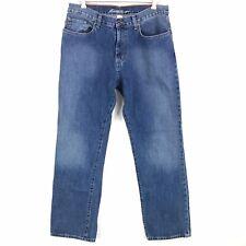 Eddie Bauer Mens Relaxed Fit Straight Leg Blue Cotton Denim Jeans Size 35x34 Euc