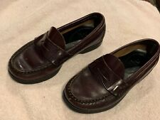 Sperry Boys Penny Loafers Leather Rubber Sole Colton Size 12.5W GUC