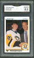 1990 Upper Deck #356 Jaromir Jagr RC Rookie Card Graded GMA 8.5 NM-MT+