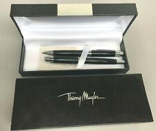 Thierry Mugler Set Black Mechanical Pencil Ballpoint Pen with Box