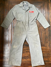 Vintage 70's Exxon Gray Coveralls Long Sleeve Usa Made M