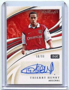 2020 Panini Immaculate Soccer THIERRY HENRY Ink Autograph AUTO 58/99 ARSENAL