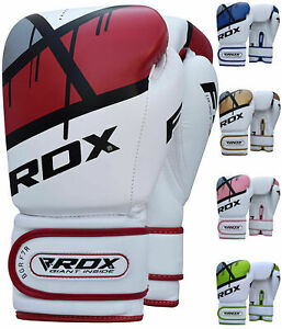RDX Boxing Gloves Punch Bag Training Muay Thai Fighting Sparring Kickboxing