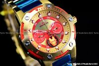 """Invicta 39mm Limited Edition Marvel """"IronMan"""" Bolt Chrono 24K Gold Red SS Watch"""