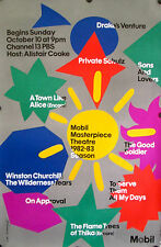"""MOBIL MASTERPIECE THEATRE 1982-83 SEASON POSTER 46"""" X 30"""" ROLLED MINT"""