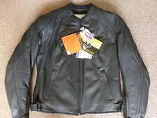 LADIES IXON PRECIOUS UK16 EU44 LEATHER BLACK MOTORCYCLE JACKET WOMENS