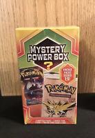 Pokemon Mystery Power Box! Holds 5 Sealed Packs!! Factory Sealed!!